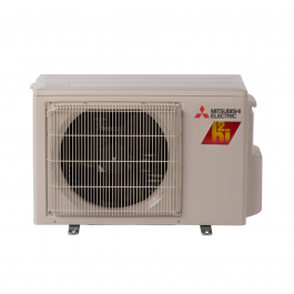 Mitsubishi mufz kj09nahz heat pump outdoor condenser for Fujitsu mini split fan motor replacement