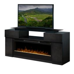 Dimplex Aiden GDS33G4-1582PC Media Console Glass Ember Bed Fireplace