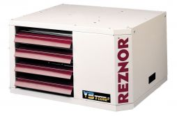 Reznor UDAP-250 Power Vented Gas Fired Unit Heater, NG, Aluminized Heat Exchanger - 250,000 BTU